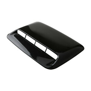 Car Black Air Flow Intake Hood Scoop Vent Bonnet Cover ABS Decor Accessories