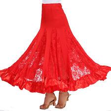 Women Performance Wear Ballroom Latin Dance Skirt Modern Performance Dress Red