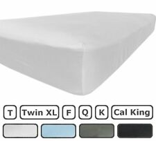 Twin XL Fitted Sheet Only - 300 Thread Count 100% Egyptian Cotton - Flat Sheets