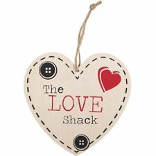 Valentines Day Wedding Gift Wooden Shabby Chic THE LOVE SHACK wooden Heart Sign