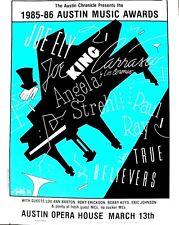 SXSW Austin Music Awards 1986 JUKE Great Lineup LARGE ORIGINAL SILK SCREEN RARE