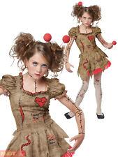 Girls Teen Deluxe Voodoo Doll Costume  Halloween Fancy Dress Kids Witch Doctor