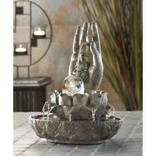 Hand of BUDDHA Thai hindu Rolling ball statue serene meditation table Fountain