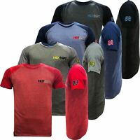 Mens HLY Printed Branded T-Shirt 100% Cotton Gym Athletic Training Tee Top New