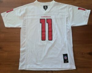 Larry Fitzgerald Reebok NFL Cardinals Jersey White Youth L Large New w/o Tags