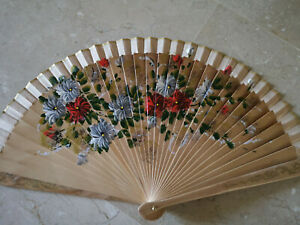 Spain Flamenco Hand Fan Case Fan Folding Fan Wooden A Beige