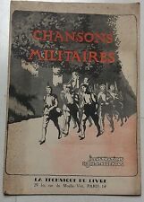 CHANSONS MILITAIRES illustrations JOE.H.HOREMANS