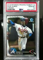 2016 OZZIE ALBIES BOWMAN PROSPECTS - CHROME - PSA 10 GEM MT