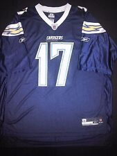 San Diego Chargers Philip Rivers XL Reebok Authentic Replica Navy Jersey NWT #17