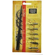 Speedball Calligraphy Pen Set - 1 Penholder w/ 4 Nibs, 2 Pen Tips