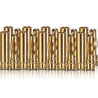 Goldkontakt Verbinder L-Form Stecker Buchse 4.0 mm 10 Paar partCore 100011