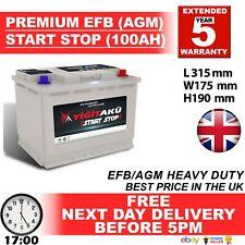 110 019 iniciar detener AGM 100AH Heavy Duty 12V Batería de coche más potencia que AGM/loque europea