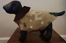 Christmas Holiday Fleece Dog Coat Small Size By Bark Avenue Originals