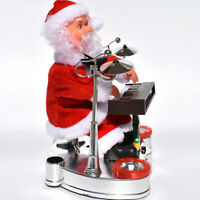 1pc Ornament Electric Piano Playing Christmas Music Doll Santa Claus for Friends