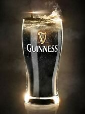 Guinness Glass, retro vintage style metal sign/plaque man cave shed bar pub