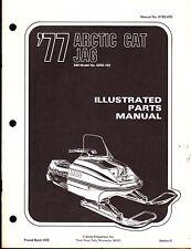 1977 ARCTIC CAT JAG SNOWMOBILE PARTS MANUAL P/N 0185-075   (421)