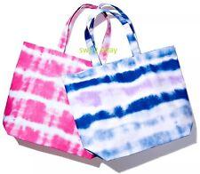Bloomingdale's Tie Dye Cotton Canvas Tote Bag Shopper Handbag BLUE or PINK