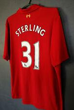 WARRIOR LIVERPOOL 2012/2013 STERLING HOME SOCCER FOOTBALL SHIRT JERSEY SIZE XL