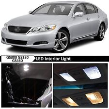 7x White Interior LED Lights Package for 2006-2011 Lexus GS350 GS460 GS300 + TOO