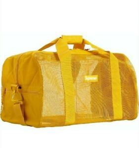 Supreme Mesh Duffle Bag / Holdall SS20 Yellow