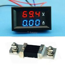 0-300V 500A + Shunt Digital DC LED Voltmeter Amperemeter Voltage Current Meter