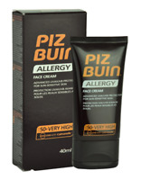 Piz Buin Allergy Face Cream SPF 50+ Very High 40ml - New