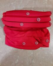 Women Ladies New Red Bead Turban Hat Cancer Chemo Hair Loss Cap Hijab Head Scarf
