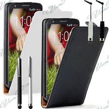 LG G2 Mini LTE Dual Sim Housse Coque Etui Pochette Clapet Cuir Véritable Cover
