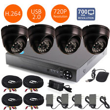 4CH HDMI DVR Video 700TVL 24IR-Led CCTV Home Surveillance Security Camera System