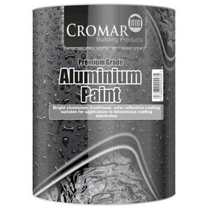 Cromar Aluminium Solar Reflective Paint Heat Resistant Roof Protection 1L