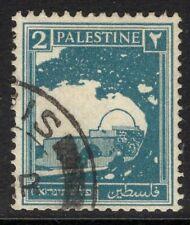 PALESTINE SG90 1927 2m GREENISH BLUE USED