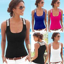 Womens Summer Sexy Vest Sequin Sleeveless Blouse Casual Tank Beach Tops T-Shirt