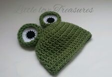 NEW Newborn baby Green Frog Hat Crochet Infant photography Prop Gift