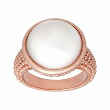 15-16 mm Freshwater Pearl Cocktail Ring in 18K Rose Gold-Plated Bronze