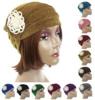 Women Head Scarf Headwrap Pearl Stretch Indian Muslim Turban Hat Chemo Cap Cover