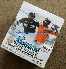 2020 Bowman Chrome Baseball Hobby Box Free Priority Mail Shipping!