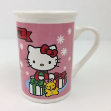 Sanrio Frankford HELLO KITTY Mug - Christmas Snowflakes Music Notes Drum Mouse