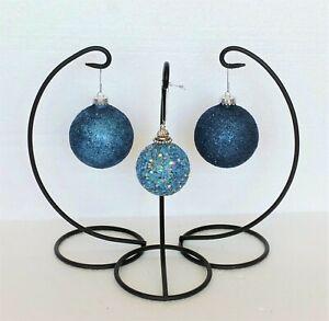 Blue Glitter Seasonal Ornaments For Sale Ebay