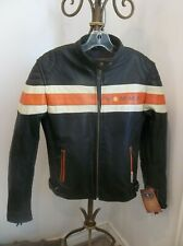 CARROLL VEMMA WOMENS BLACK LEATHER CAFE RACER MOTORCYCLE ZIP LINER JACKET S NWT