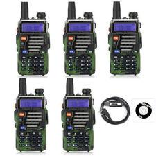 5×BaoFeng UV-5R Plus Qualette Camouflage + USB Cavo RICETRASMITTENTE Radio Ham