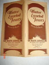 1929 Winter Escorted Tours - En Route Service - Chicago, Ill