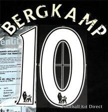 Arsenal Bergkamp 10 Premier League Football Shirt Name Set Lextra Home