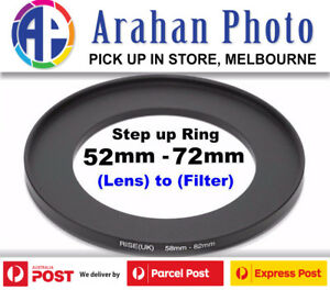 Step Up Ring 52-72mm  52mm Lens to 72mm filter
