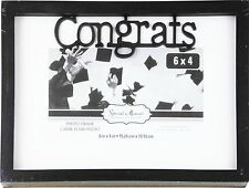 "Graduation Photo Frame Special Moments Congrats 6"" x 4"" Black Picture Gift"