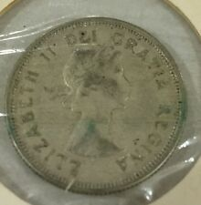 1960 SILVER QUARTER (25 cents) CANADA coin world foreign NICE GRADE TONED