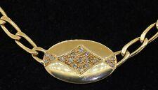 Heavy 18K gold amazing elegant .34CTW diamond cluster pendant on chain necklace