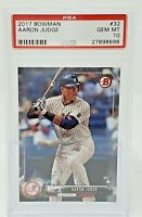 2017 Bowman #32 NY Yankees AARON JUDGE Rookie Baseball Card PSA 10 GEM MINT!