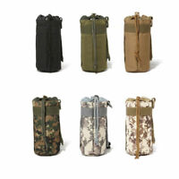 Outdoor Military MOLLE Tactical Water Bottle Kettle Pouch Bag Case Pack Travel -