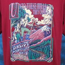 vintage 90s Unto These Hills Outdoor Drama T-Shirt Large theater cartoon thin