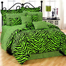 Lime Zebra 6 Piece Comforter Set Size: Full